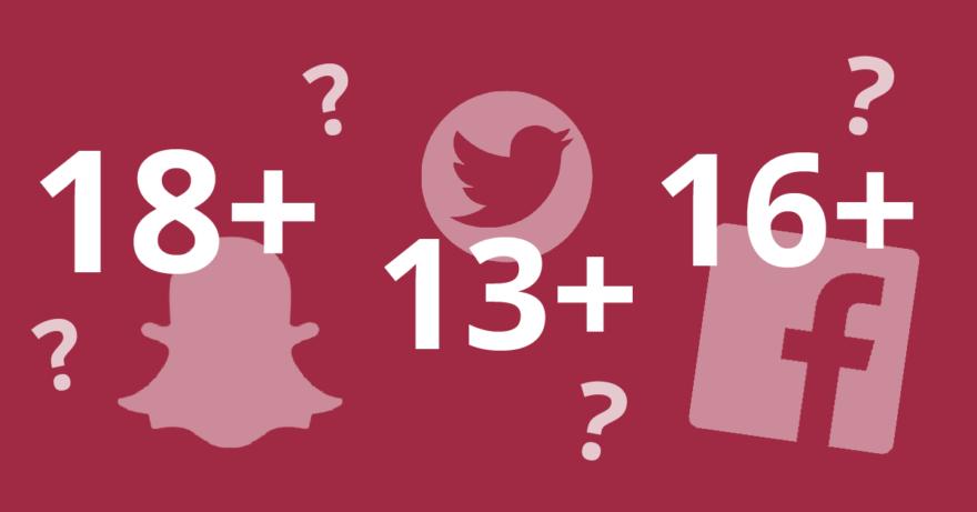 Åldersgränser sociala medier