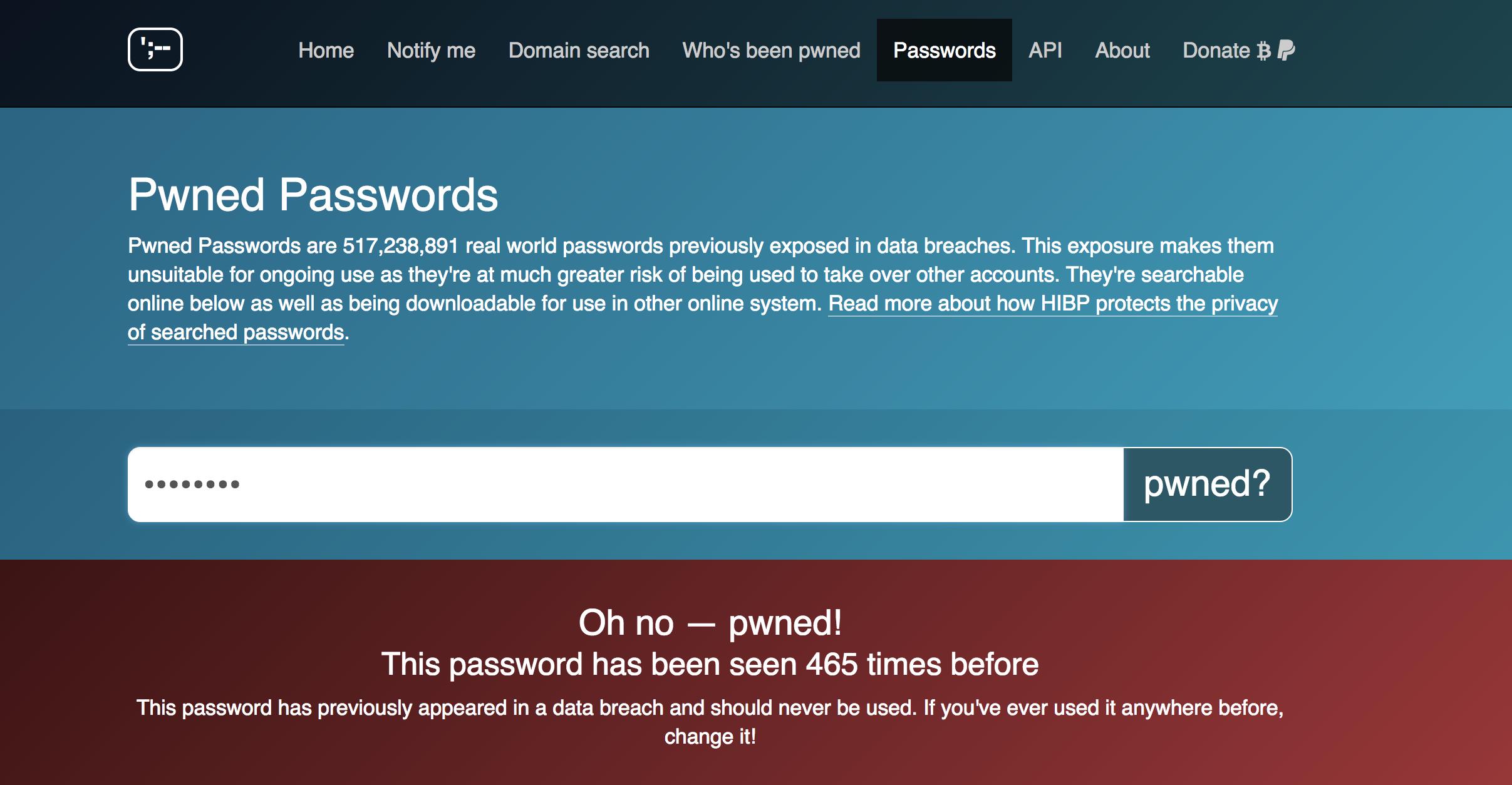 läckta lösenord