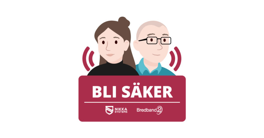 Artwork för Bli säker-podden, en illustration av Nikka och Tess